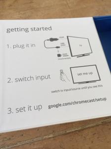 Chromecast Installation Instructions
