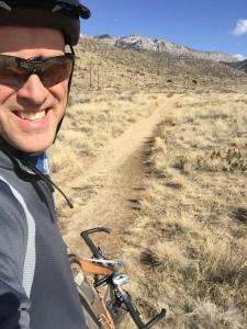 Mountain biking in Sandia Foothills on Sunday